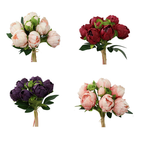 Real Touch Peony Bouquet Bundle - Peony Centerpiece, Bouquet Home Decor