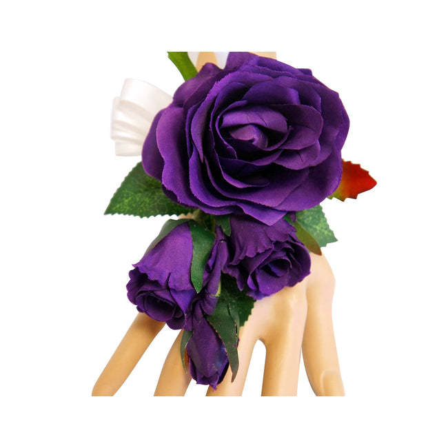Purple, Lavender, White Roses, Calla Lilies, and Stargazer Lilies Set - Angel Isabella