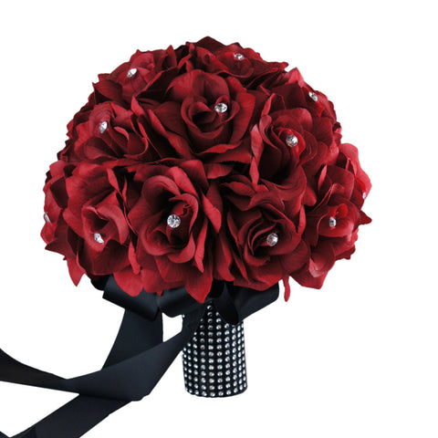 large Bridal Bouquet-Apple Red