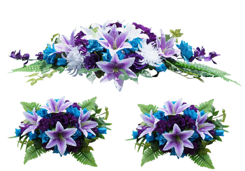 3pc set Arch decoration wedding events-turquoise and purple white