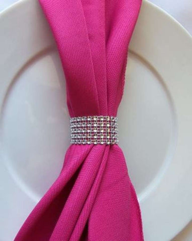 Set of 10 Bling style Napkin Rings