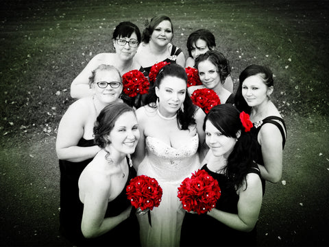 Build your wedding package-Apple red and Black
