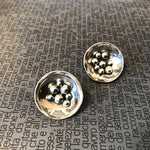 Sterling Silver Modernist Abstract Organic Stud Earrings