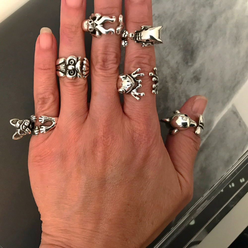 Elephant Handmade Sterling Silver Artisan Ring Open size 5-6.5