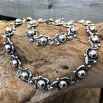 Sterling silver Repousse Ball Abstract Taxco Modernist Vintage necklace collar Choker