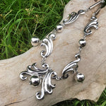 Sterling silver handmade vintage  statement necklace