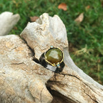 sterling Silver natural sphene topaz modernist statement Ring8