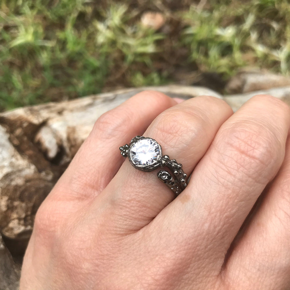 925 sterling silver CZ ring 7