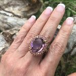 sterling silver statement Natural Ametrine ring 8