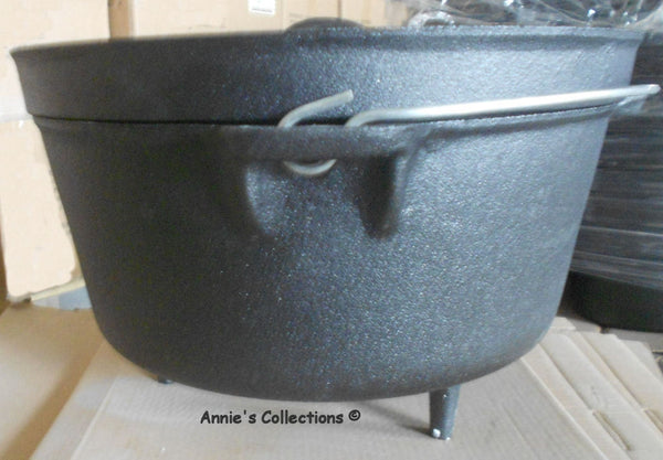 Dutch Ovens W/legs - Dutch Oven 12 QT Cast Iron Pre-Seasoned Camping Cookware Survival
