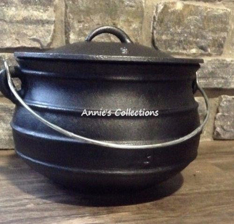 Flat Bottom Potjie Plats - Cast Iron Potjie Flat Bottom #3 Bean Pot Dutch Oven