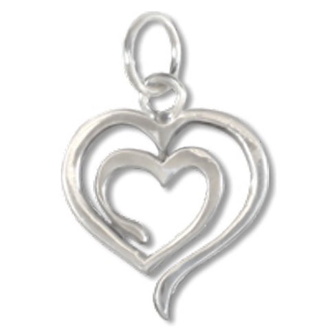 Jewelry & Adornment - Eve's Heart OM Heart Path Sterling Silver Charm Eternal Lights
