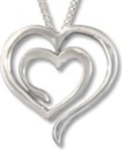 Jewelry & Adornment - Eve's Heart Sterling Silver Pendant Classic Images