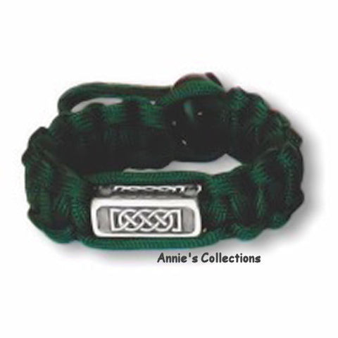Jewelry & Adornment - Paracord Bracelet Survival Celtic Journey Green Celtic Knots