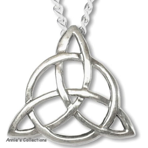 "Jewelry & Adornment - Triquetra Trinity Knot ""Blessed Be""Sterling Silver Pendant"