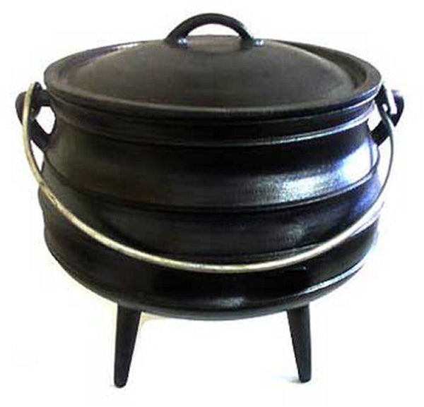 Outdoor Cooking - Size 10 Potjie Pot Cauldron Pure Cast Iron Reenactments Survival