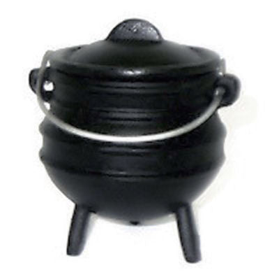 Potjie Pots - Cast Iron Mini Potjie Pot Cauldron 8 Oz Candle Holder Holiday Deco