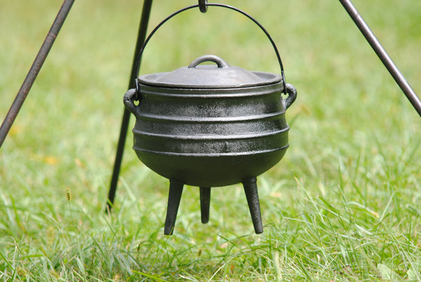 Potjie Pots - Copy Of Potjie Pot Cauldron Size 2 Pure Cast Iron 5 Quart Bean Pot