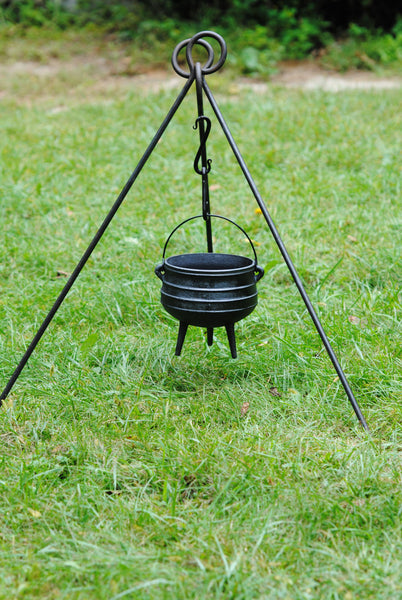 Potjie Pots - Potjie Pot Cauldron Size 1 Pure Cast Iron 3 Quart Bean Pot