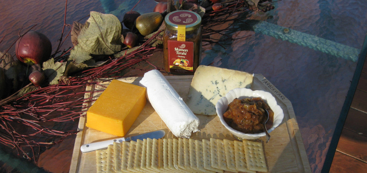 Assorted Cheese Platter with Tangy Fruit Torshi (Miveh)