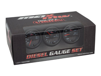 MaxTow Black & Green Gauge Set (Boost, Pyro, Trans) OSTS | OSTSAZ Gauges
