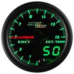 GlowShift MaxTow Black & Green Gauge Set (Boost, Pyro, Fuel) OSTS | OSTSAZ Gauges