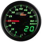 GlowShift MaxTow Black & Green Gauge Set (Boost, Pyro, Trans) OSTS | OSTSAZ Gauges