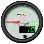 GlowShift MaxTow White & Green Gauge Set (Boost, Pyro, Fuel) OSTS | OSTSAZ Gauges