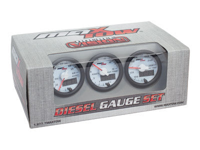 GlowShift MaxTow White & Green Gauge Set (Boost, Pyro, Trans) OSTS | OSTSAZ Gauges