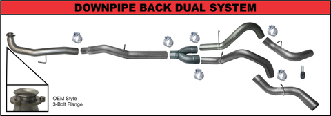 "Flo Pro 5"" DownPipe Back Dual Exhaust (2015.5-2016) - Chevy LML OSTS 