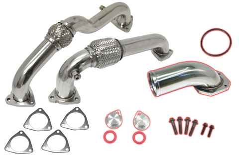 Flo Pro Up-Pipes and EGR Cooler Kit (2008-2010) - Ford 6.4L