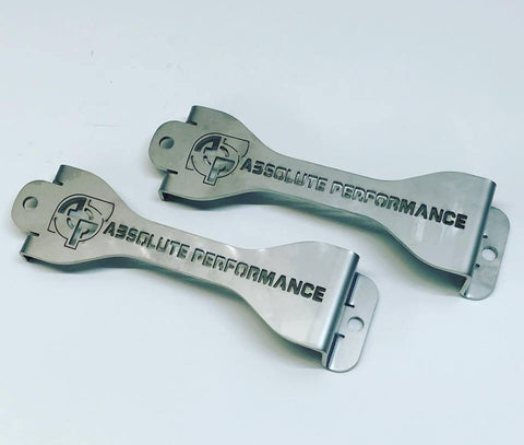 Absolute Performance 11-18 Ford 6.7 Powerstroke Battery Hold Down Brackets OSTS | OSTSAZ