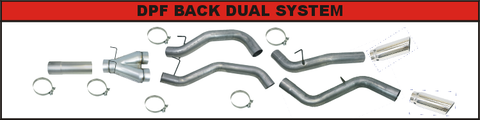"Flo Pro 4"" DPF Back Dual Exhaust (2007-2009) - Dodge 6.7L OSTS 