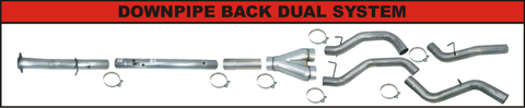 "Flo Pro 4"" Downpipe Back Dual Exhaust (2008-2010) - Ford 6.4L OSTS 