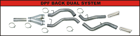 Flo Pro DPF Back Dual Exhaust (2008-2010) - Ford 6.4L OSTS | OSTSAZ DPF Back Exhaust
