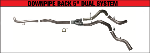 "Flo Pro 5"" DownPipe Back Dual Exhaust (2011-2015) - Chevy LML OSTS 