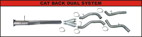 "Flo Pro 4"" CAT Back Dual Exhaust (2011-2015) - Chevy LML OSTS 