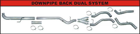 "Flo Pro 4"" DownPipe Back Dual Exhaust (2007.5-2010) - Chevy LMM OSTS 