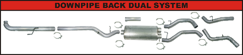 "Flo Pro 4"" DownPipe Back Dual Exhaust (2001-2007) - Chevy"