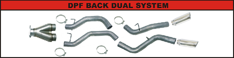 "Flo Pro 4"" DPF Back Dual Exhaust (2007.5-2010) - Chevy LMM OSTS 