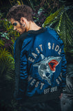 East Side West Side satin bomber jacket