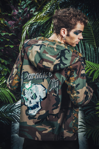 Paradise City camo anorak jacket
