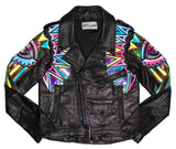 All Seeing Eye leather moto jacket