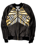 Concrete Jungle leather bomber jacket