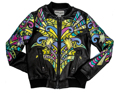 Hollywood and vine leather bomber jacket u shock and a