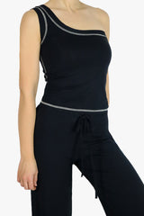 Comfy Asymmetric Tank in Black