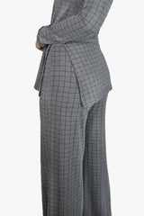 Comfy Grey Plaid Set