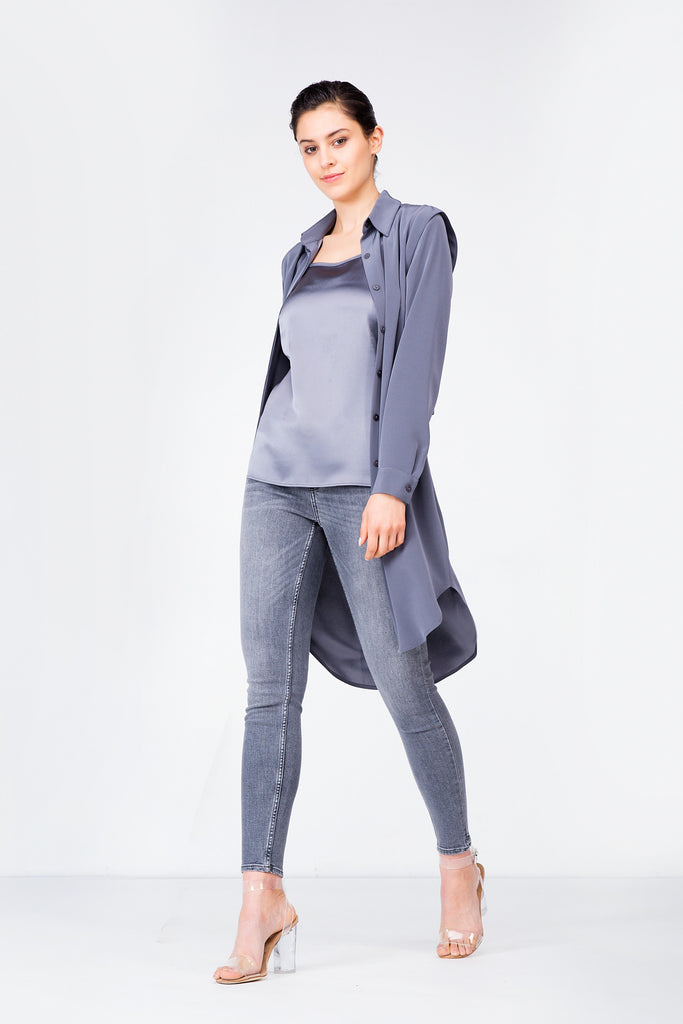 Grey Balmoral Trench Dress