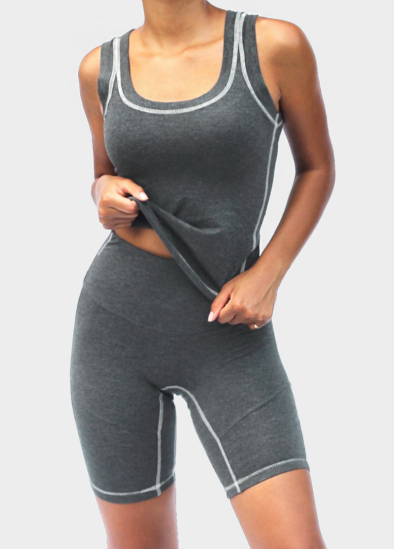 Comfy Tank in Charcoal