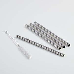 Stainless steel straw set (5 pcs) - DALCINI Stainless